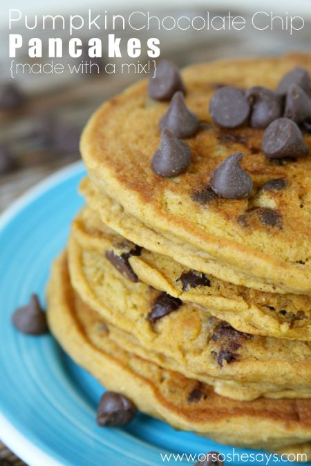 Pumpkin Chocolate Chip Pancakes | Easy Recipe