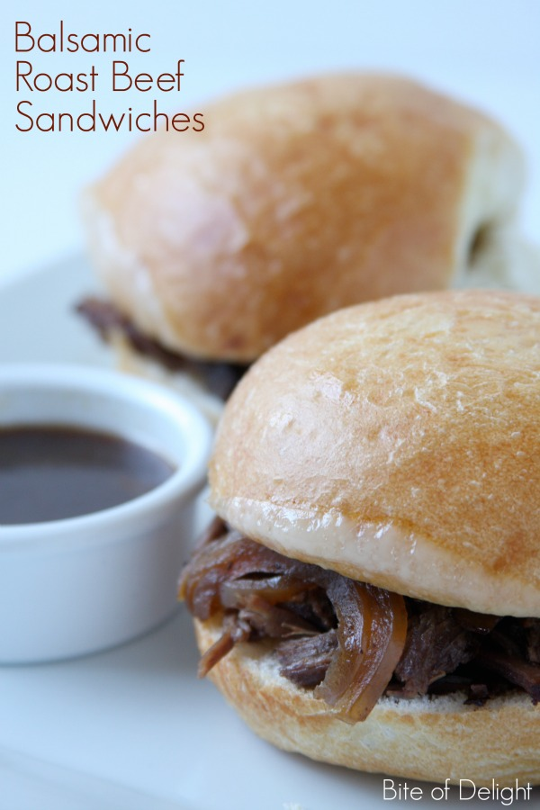 Balsamic Roast Beef Sandwiches | Easy Slow Cooker Meal
