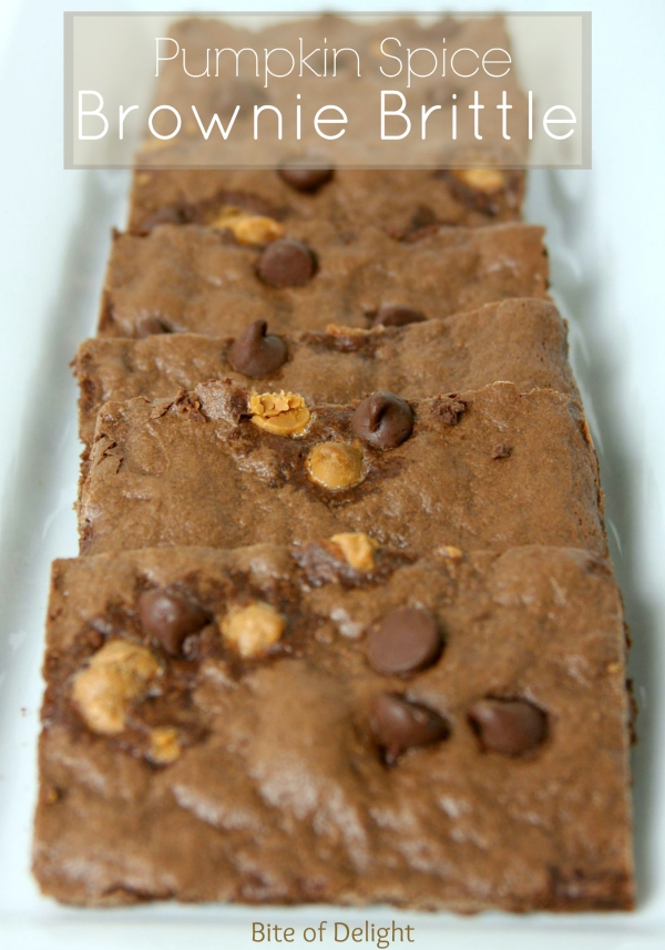 Pumpkin Spice Brownie Brittle | Fall Treat | Chocolate