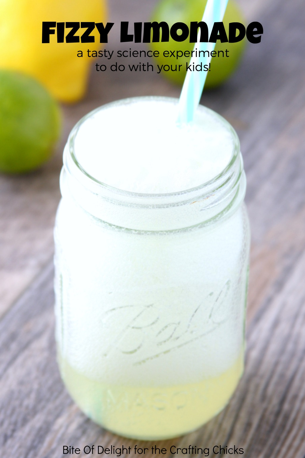 Fizzy Limonade is a fun science experiment that perfect for kids!